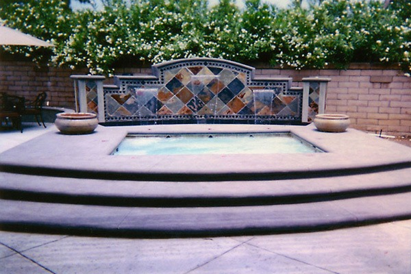 Custom inground spa in orange county fully customized inground spa installa - Destockage spa jacuzzi ...
