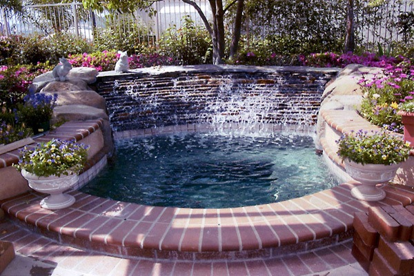 Outdoor hot tubs spa custom inground hot tubs for Inground pool enclosure prices