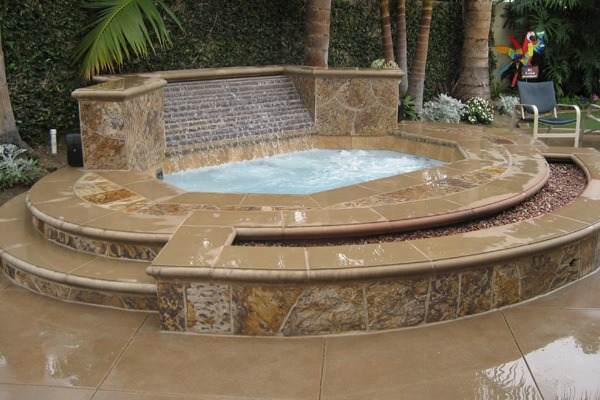 Custom inground spa in orange county fully customized - Spa o hot tub ...