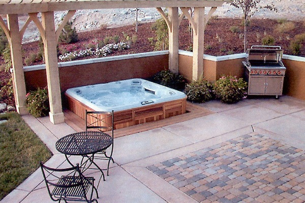 vault spa custom built in bullfrog spas hot tubs in orange county mission valley spas. Black Bedroom Furniture Sets. Home Design Ideas