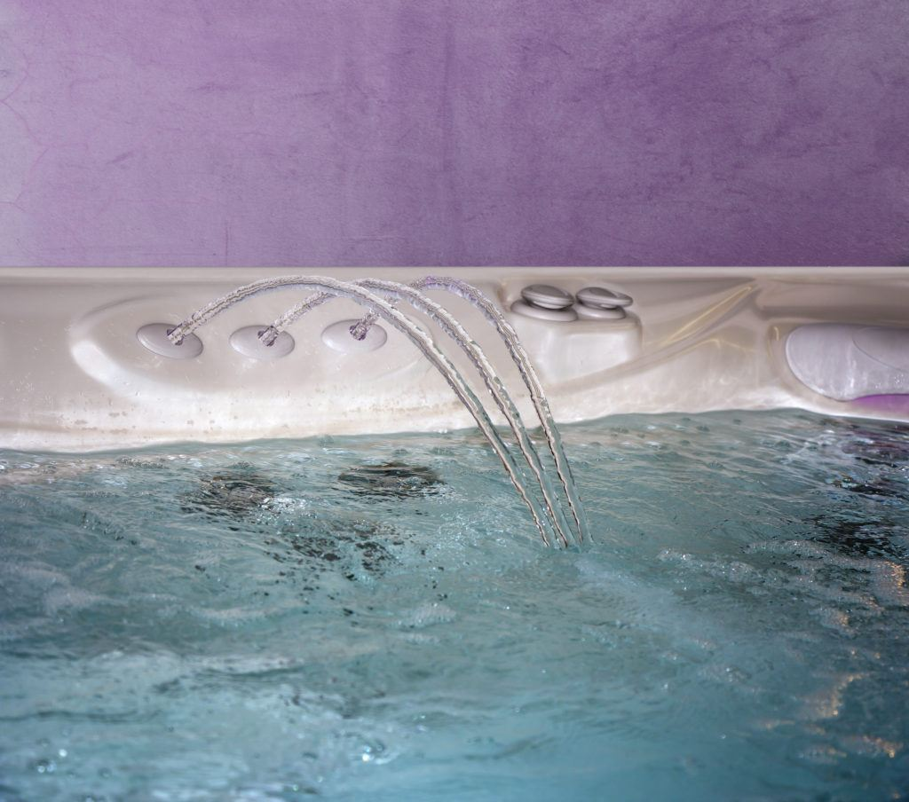 Jacuzzi Bathtub filling up with clean water